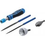Наружный / внутренний инструмент для удаления заусенцев и набор напильников | 5 шт. (6773)