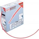 Termoizoliacinė žarnelė (kembrikas) raudona | dėžutė | Ø 2.5 mm | 10 m (6846-1)